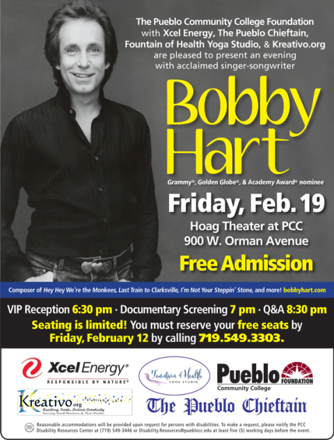 Please Join the PCC Foundation for An Evening With Bobby Hart