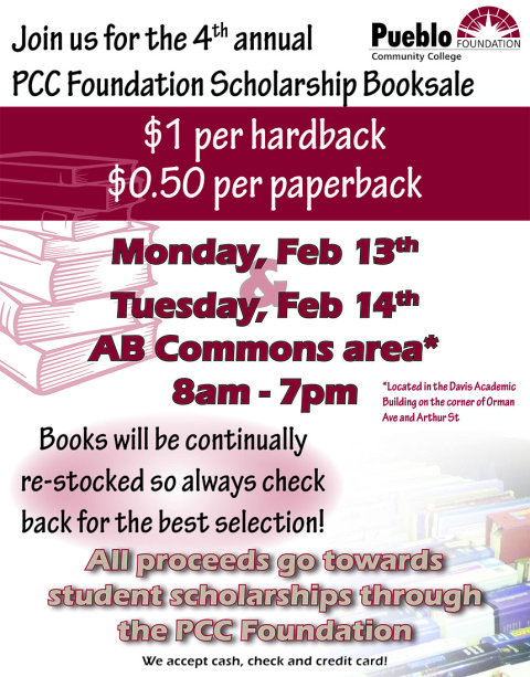 Make Plans NOW to Attend PCC Annual Booksale!