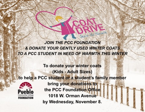 Donated Coats will help to Keep PCC Students Warm this Winter