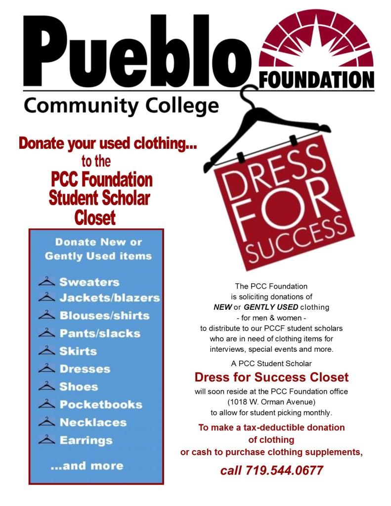 PCCF Dress for Success Flyer