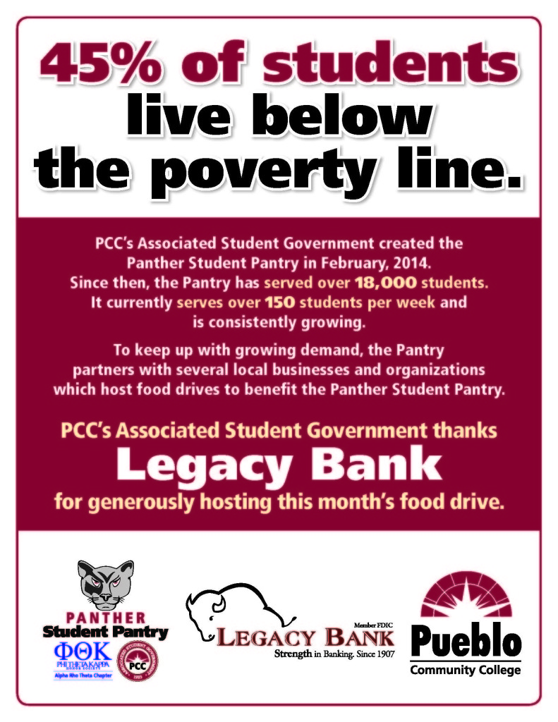 Panther Pantry Flyer - Legacy Bank - January 2018